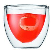 Bodum - set de 2 verres double paroi 8cl - 4557-10