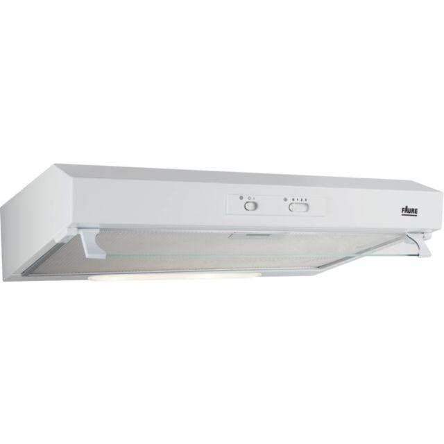 FAURE hotte visière 60cm 272m3/h blanc - fht6132w