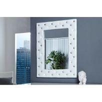 CHLOE DESIGN - Miroir design Petillon - blanc