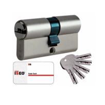 CAVERSISEO - Cylindre double entrée ISEO 45x45mm nickelé 5 clés - carte propriété