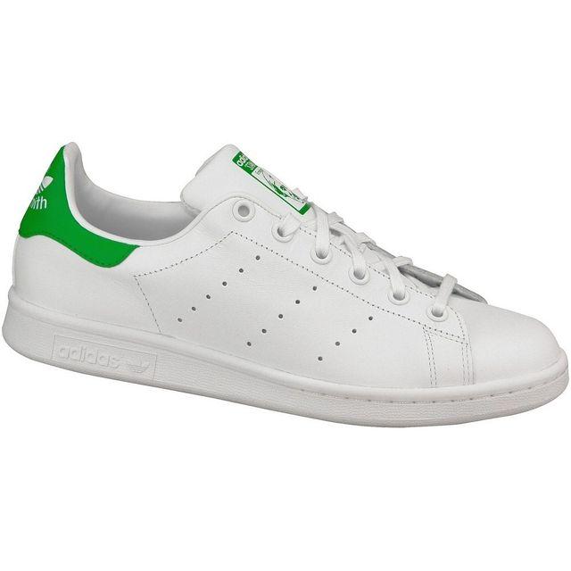 Adidas Stan Smith J M20605 Blanc pas cher Achat Vente