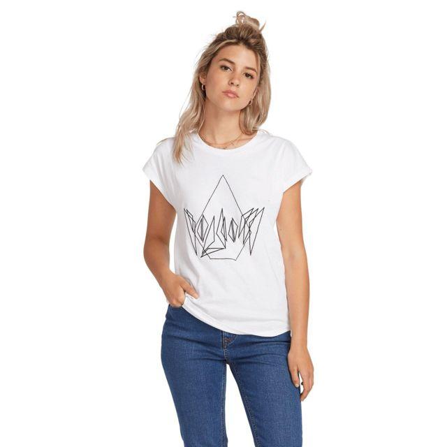 Volcom - T-shirt Dare White Femme - pas cher