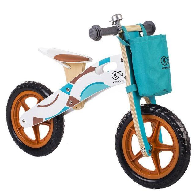 Kinderkraft - Draisienne Aventure en bois enfant de 3 à 6 ans Bleu ... 75754e2f6fe
