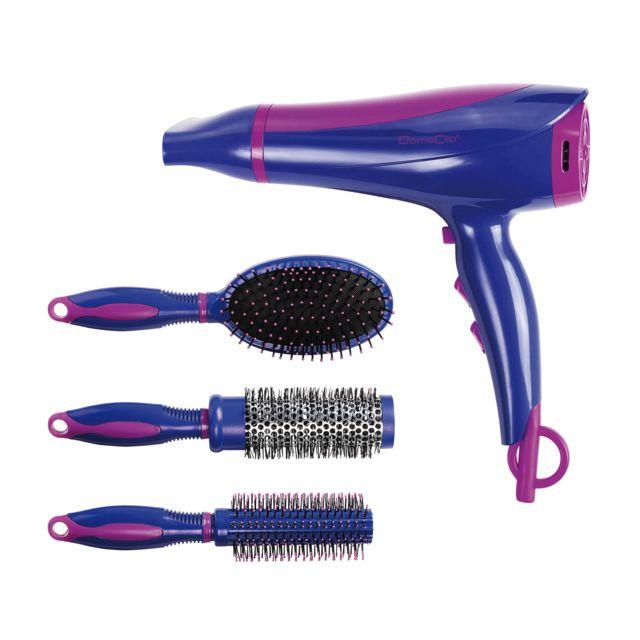 DOMOCLIP Set de coiffure sèche-cheveux et brosses DOS123