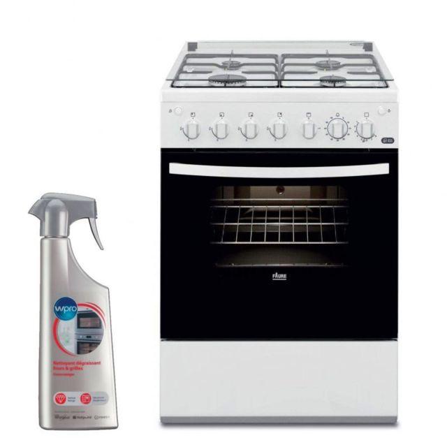 Royaume-Uni disponibilité 0832d c53b8 Cuisiniere 4 foyers brûleurs gaz blanc 60x60cm Four Email Easy Pizza  Gazinière 55L