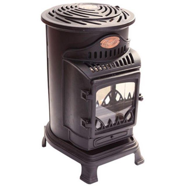 sans marque chauffage d 39 appoint gaz 3 kw provence noir style vieux po le pas cher achat. Black Bedroom Furniture Sets. Home Design Ideas