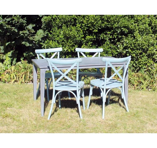 RESIDENCE - Salon de jardin VINTAGE table + chaises ...
