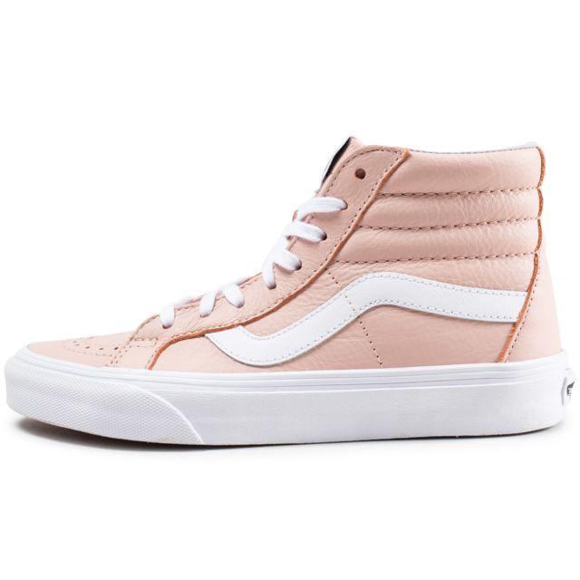 Vans Sk8 Hi rose saumon et blanche Chaussures Baskets