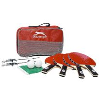 Maison Futée - Set tennis de table Slazenger - Raquettes, filet, balles et housse de transport