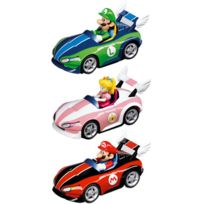 Pull and Speed - Figurine - Mario Kart Wii pack 3 véhicules à friction
