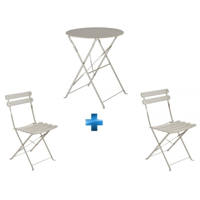 CARREFOUR - Ensemble Table Bistrot Ronde Pliante + 2 Chaises ...