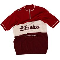 Santini - Eroica Xxth Wool - Maillot manches courtes - beige/rouge