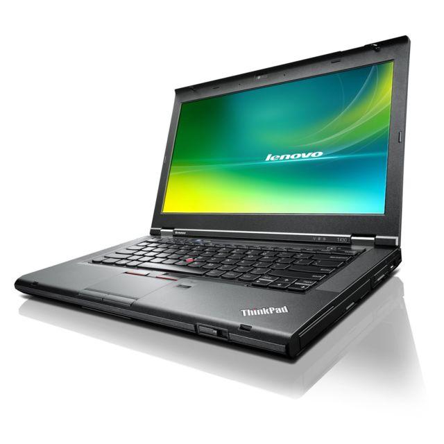 LENOVO - Thinkpad T430 - Intel Core i5 3320M 2.6 Ghz - RAM 8 Go - SSD 240 Go - DVD+/-RW - Ecran 14.1'' - Webcam - Windows 7 Professionnel 64 bits
