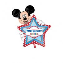 Amscan - 1 Ballon Mylar Happy Birthday-60 x 76 cm-Mickey