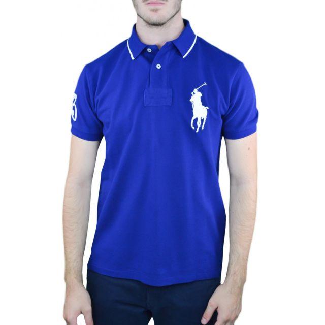 befb3b37ff4fcb Ralph Lauren - Polo Big Poney bleu marine pour homme - pas cher Achat   Vente  Polo homme - RueDuCommerce
