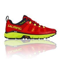 Salming , Trail 5 Women Rouge Et Jaune Fluo chaussure de trail femme