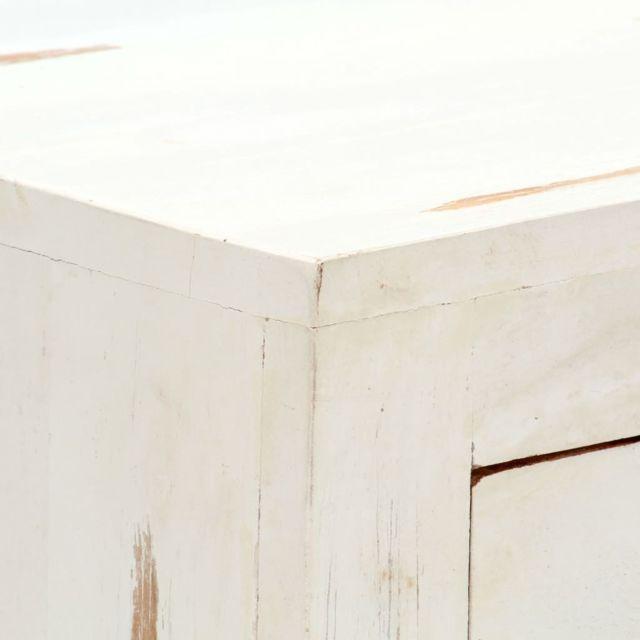 Icaverne - Commodes ligne Armoire à tiroirs Blanc 58 x 30 x 75 cm Bois d'acacia massif
