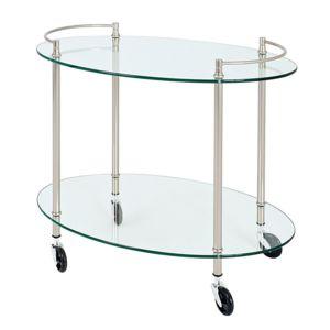 marque generique desserte ovale sur roulettes acier. Black Bedroom Furniture Sets. Home Design Ideas
