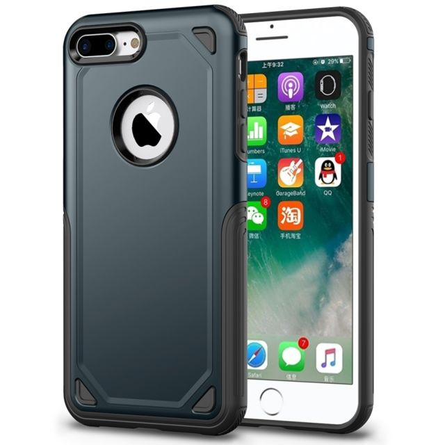 coque iphone 8 plus anti choc bleu