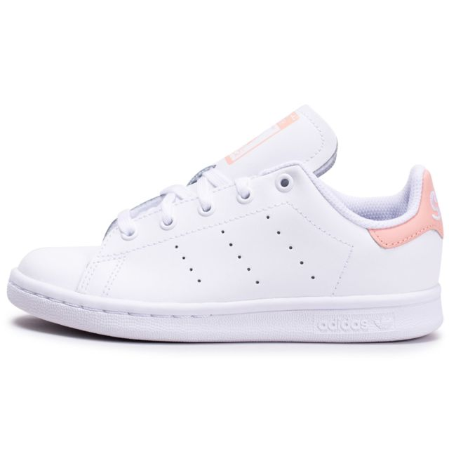 adidas Stan Smith blanche et paillettes Junior Chaussures