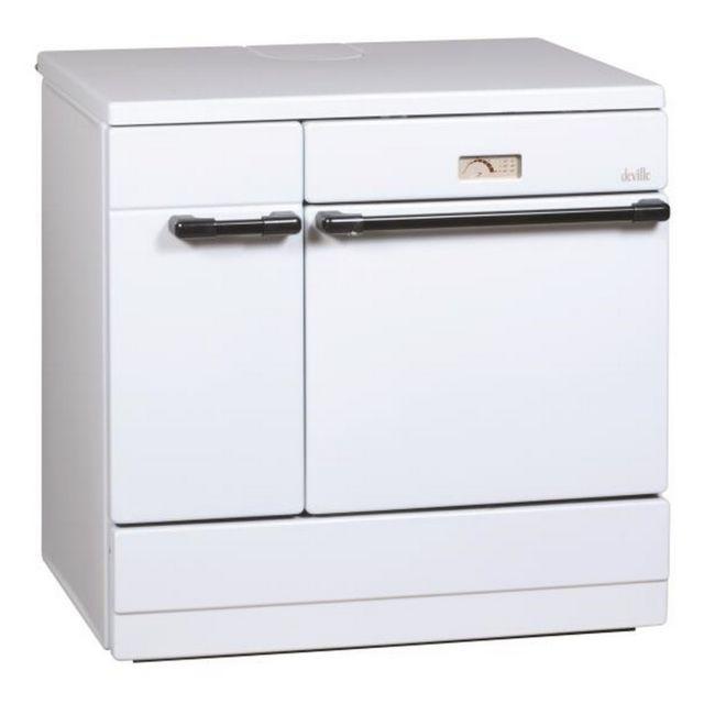 DEVILLE cuisinière à bois 12kw blanc - c08631-01-a