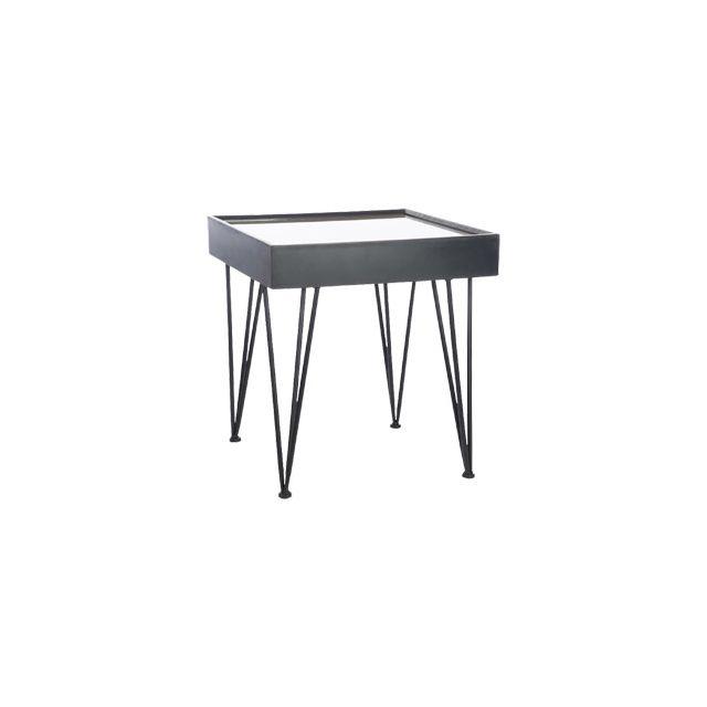 Table d'appoint en bois et métal 56x56x60cm