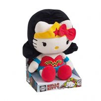 Wdk - Peluche Super-héros - Hello Kitty Wonder Woman - Très douce - 27cm - Dc Comics Originals
