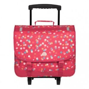 roxy cartable roulettes green monday trolley fille ecole scolaire 6 13ans rose pois. Black Bedroom Furniture Sets. Home Design Ideas