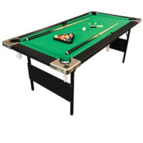 Simba - Billard Americain 6 Ft Pliants Snooker mod.ALADIN table de billard - Dimensions de jeu 158 x 66 cm