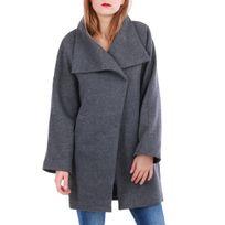 Manteau gris femme cache cache
