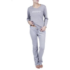 Pyjamas pour femmes à rayures ( Couleur : Gris , taille : L )