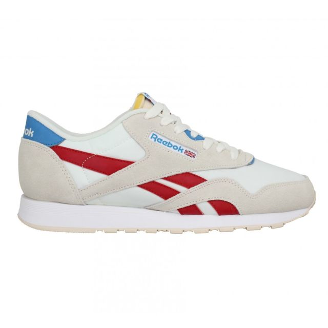 coupon code official store wide varieties Reebok - Classic Nylon toile Homme-40-Blanc Rouge - pas cher Achat ...