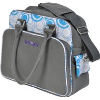 Dooky - 126571 - Sac À Langer - Ronds Turquoise/GRIS - Toile Polyester