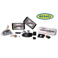 Ring - 2 projecteurs Microline rectangulaires Longue portee avec cache - H3