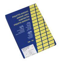 Techmay - Etiquettes couleurs 210 x 297 mm jaunes - Boîte de 100
