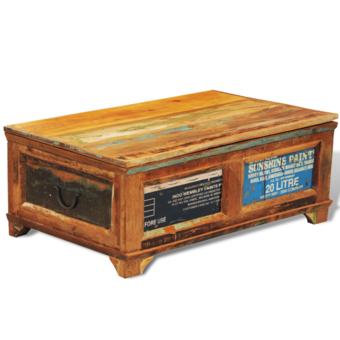 Rocambolesk - Superbe Table basse antique vintage avec compartiment Neuf