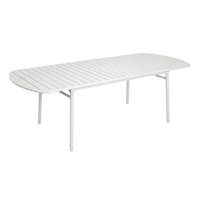 HYBA - Table de jardin Alu 151 extensible - Taupe 100cm x ...