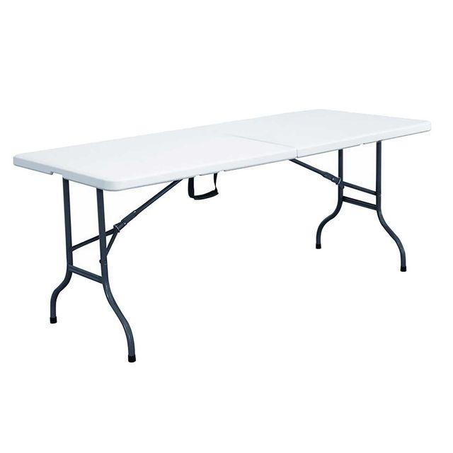 Mobeventpro - Table Pliante Blanche 152 x 70 x 74 cm, Blanc - pas ...