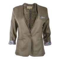 Best Mountain - Blazer gris col châle femme - pas cher Achat   Vente ... 1052c50a264