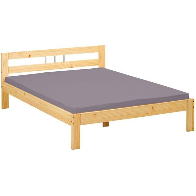 altobuy cali lit 140x200 pas cher achat vente structures de lit rueducommerce. Black Bedroom Furniture Sets. Home Design Ideas