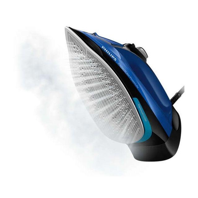 PHILIPS Fer vapeur PerfectCare - GC3920/20 - Bleu/Noir Puissance : 2500 W - Débit de vapeur continu : 45 g/min - Effet pressing 180 gr - Système anticalcaire intégré - Système anti-gouttes - Arrêt automatique.