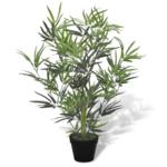 Rocambolesk - Superbe Bambou artificiel avec pot 80 cm Neuf