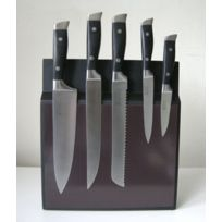 Pradel Jean Dubost - Bloc 5 couteaux cuisine 10 x 30 cm Hauteur 35 cm