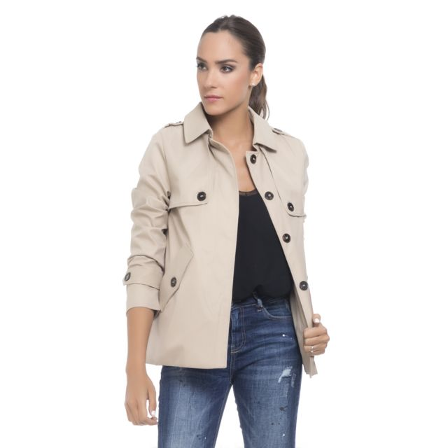 Beige Court Femme Ah18 Pas Cher Achat Trench Tantra Jacket3595 BgFwWxHHq