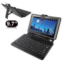 Yonis - Housse clavier universelle tablette tactile 9.7 pouces support Noir