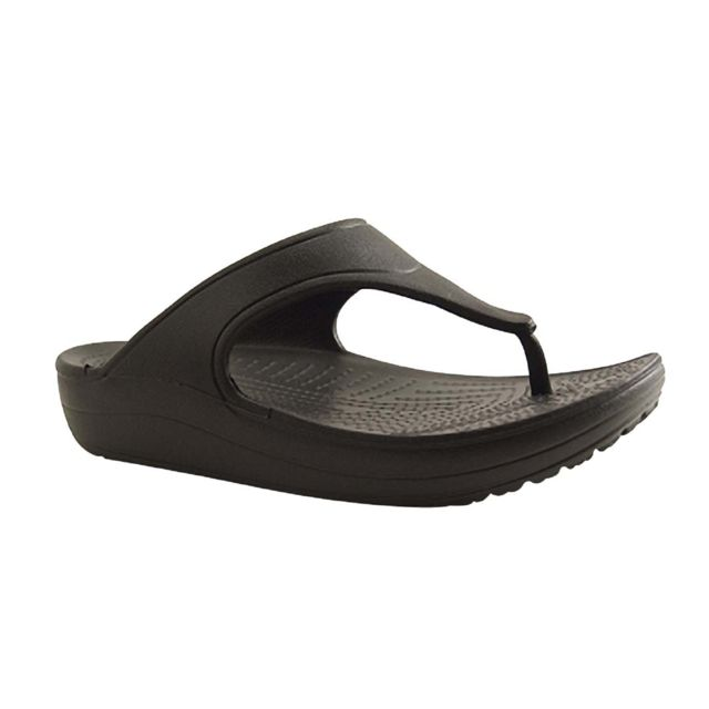 bc8b25c41b00 Crocs - Europe Bv-sloane-tong-noir - pas cher Achat   Vente Mules ...