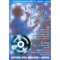 Paul Beuscher Publications - Mitchell Eddy / Hallyday Johnny - A Vous De Chanter + Cd