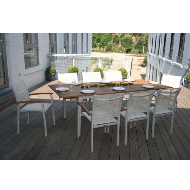 Alinéa - Montreal Jardin Table de jardin extensible en alu et ...