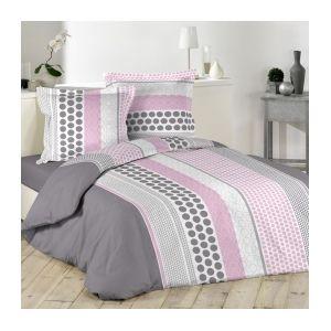 marque generique housse de couette et deux taies 240 cm popsy rose 220cm x 240 cm pas. Black Bedroom Furniture Sets. Home Design Ideas