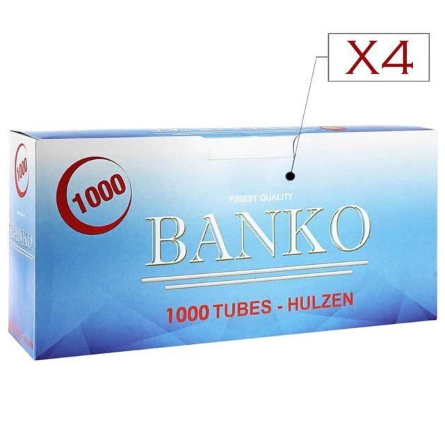 Banko Filtres Et Tubes Pack de 4 boites de tubes à cigarettes Banko